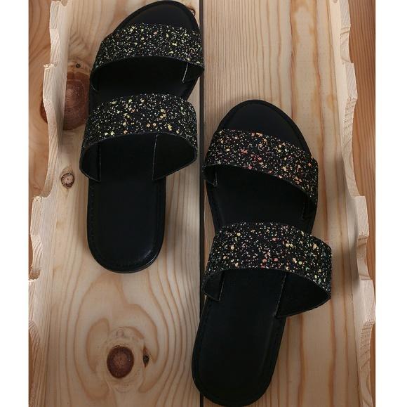 22b47eb8eb69 Last Size 7 🖤Glitter Encrusted Open Toe Sandal